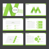 Green presentation templates Infographic elements flat design set for brochure flyer leaflet marketing Royalty Free Stock Photo