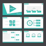 Green presentation templates Infographic elements flat design set for brochure flyer leaflet marketing Stock Photography