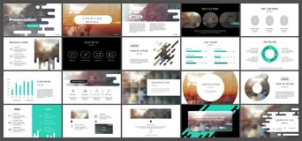 Green presentation templates Royalty Free Stock Image