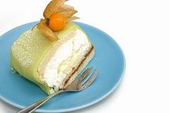 Green princess cake royalty free stock photography