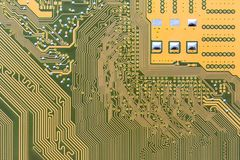 Circuit board integrated on computer Stock Images
