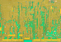 Green printed circuit board Stock Image