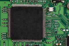 Green printed circuit board Royalty Free Stock Image