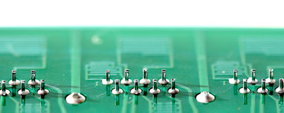 green printed circuit board Royalty Free Stock Photography