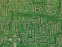 Green printed circuit board - PCB. Green printed circuit board of electronics - PCB royalty free stock photos