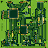 Green printed circuit board (PCB) Stock Photos