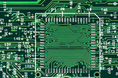 Green printed circuit board Stock Photo