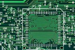 Green printed circuit board Stock Photo