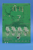 Green printed computer motherboard with microcircuit Stock Image