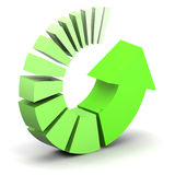 Green Process Arrow Stock Photo