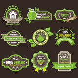 GREEN PRODUCT LABELS Stock Photo