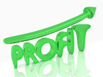 Green profit graph Stock Images