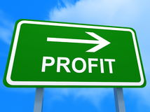 Green profit sign Royalty Free Stock Photo