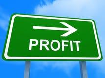 Green profit sign stock illustration