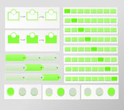 Green progress element vector illustration
