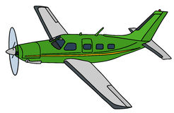 Green propeller airplane Stock Photography