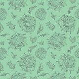 Green Provence Vector Pattern Stock Image