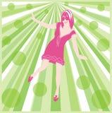 green psychedelic απεικόνιση αποθεμάτων