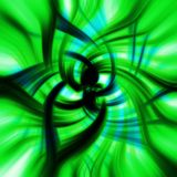 Green psychedelic flower textu Stock Image