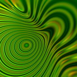 Green psychedelic shapes background. Warp energy. Art graphic ideas. Soft light effect. Circle flow. Line style concept. Colors. Royalty Free Stock Photos