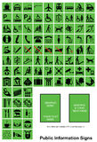 Green Public Information signs Royalty Free Stock Images
