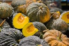 Green pumpkin background. stock photos