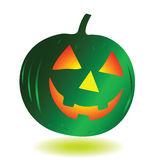 Green pumpkin halloween vector Stock Photography