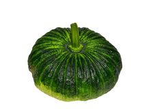 Green pumpkin isolated on white. Royalty Free Stock Photography
