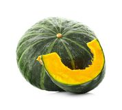 Green pumpkin isolated on white background. Green pumpkin isolated on white Stock Photos