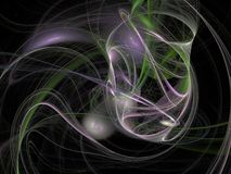 Green purple abstract fractal with overlapping threads Royalty Free Stock Photos