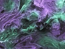 Green and purple abstract hand painted background. Acrylic painting on canvas. Contemporary art Stock Photos