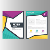 Green Purple annual report presentation template  brochure flyer  elements icon flat design set for advertising marketing leaflet Stock Images