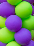 Green and Purple balloons Stock Image