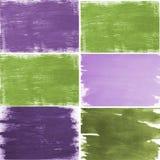 Green purple brush textures Stock Photo