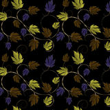 Green,Purple,Copper and Gold Leaves and Vine Royalty Free Stock Photo