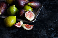 Green and purple figs Stock Image