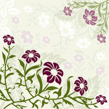 Green and Purple Floral Background. Flowery Green and Purple Background Vector Illustration