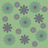 Green and purple flowers background, muted colors Royalty Free Stock Images