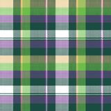 Green purple seamless pattern check fabric texture. Vector illustration Royalty Free Stock Photos