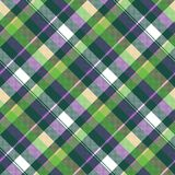 Green purple seamless pattern check fabric texture. Vector illustration Royalty Free Illustration