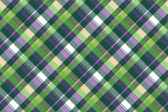 Green purple seamless pattern check fabric texture. Vector illustration Royalty Free Stock Image