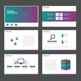 Green purple tone presentation templates Infographic elements flat design set for brochure flyer leaflet marketing Royalty Free Stock Photo