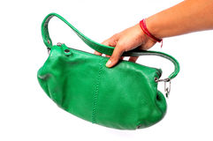 Green purse Royalty Free Stock Photography