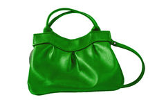 Green purse Stock Images