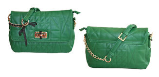Green purse Royalty Free Stock Image