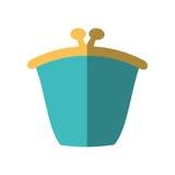 green purse wallet money saving flat icon Royalty Free Stock Images