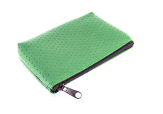 Green Purse. On white background Stock Photos