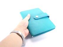Green purse Stock Photo