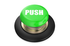 Green push button Royalty Free Stock Images