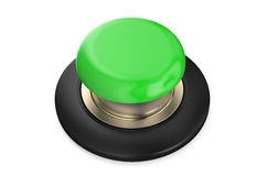 Green push button Royalty Free Stock Image